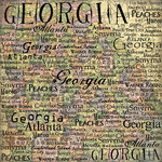 Scrapbook Customs - United States Collection - Georgia - 12 x 12 Paper - Map