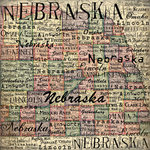 Scrapbook Customs - United States Collection - Nebraska - 12 x 12 Paper - Map