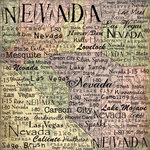Scrapbook Customs - United States Collection - Nevada - 12 x 12 Paper - Map