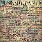 Scrapbook Customs - United States Collection - Pennsylvania - 12 x 12 Paper - Map