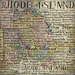 Scrapbook Customs - United States Collection - Rhode Island - 12 x 12 Paper - Map