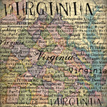Scrapbook Customs - United States Collection - Virginia - 12 x 12 Paper - Map