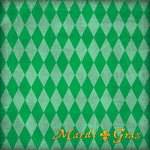 Scrapbook Customs - United States Collection - Louisiana - 12 x 12 Paper - Mardi Gras - Green