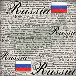 Scrapbook Customs - World Collection - Russia - 12 x 12 Paper - Scratchy