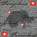 Scrapbook Customs - World Collection - Switzerland - 12 x 12 Paper - Scratchy
