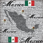 Scrapbook Customs - World Collection - Mexico - 12 x 12 Paper - Scratchy