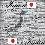 Scrapbook Customs - World Collection - Japan - 12 x 12 Paper - Scratchy