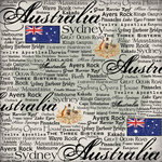 Scrapbook Customs - World Collection - Australia - 12 x 12 Paper - Scratchy