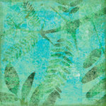 Scrapbook Customs - Travel Collection - 12 x 12 Paper - Tropical - Fern - Green
