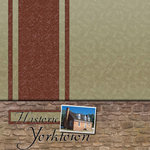 Scrapbook Customs - United States Collection - Virginia - 12 x 12 Paper - Historic Yorktown