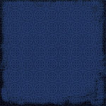 Scrapbook Customs - Travel Collection - 12 x 12 Paper - Travel - Dark Blue Pattern