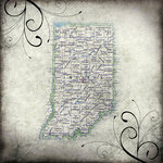 Scrapbook Customs - United States Collection - Indiana - 12 x 12 Paper - Travel