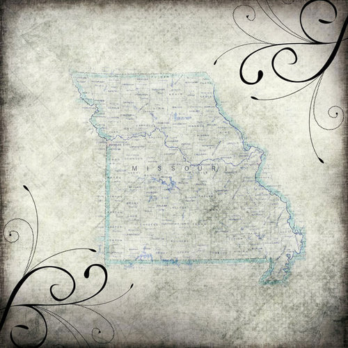 Scrapbook Customs - United States Collection - Missouri - 12 x 12 Paper - Travel