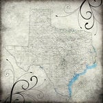 Scrapbook Customs - United States Collection - Texas - 12 x 12 Paper - Travel