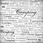 Scrapbook Customs - Sports Collection - 12 x 12 Paper - Camping - Live For
