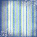 Scrapbook Customs - Religious Collection - 12 x 12 Paper - Baptism Stripe