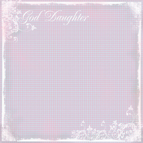 Scrapbook Customs - Religious Collection - 12 x 12 Paper - God Daughter Plaid
