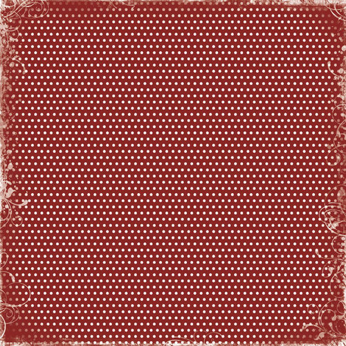 Scrapbook Customs - World Collection - Switzerland - 12 x 12 Paper - Discover Dots