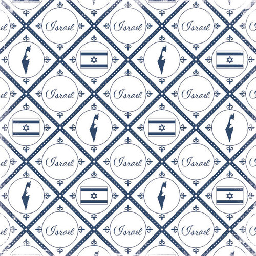 Scrapbook Customs - World Collection - Israel - 12 x 12 Paper - Discover