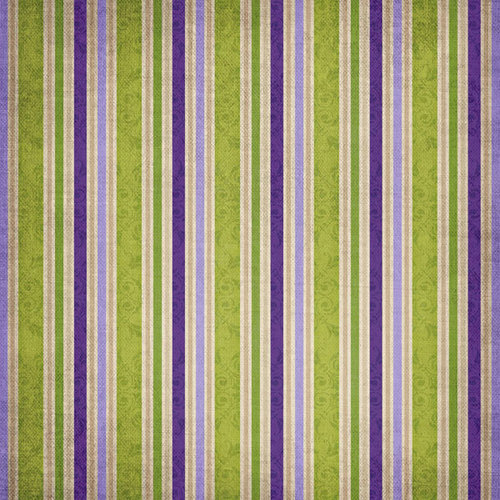 Scrapbook Customs - Travel Collection - 12 x 12 Paper - Vineyard - Stripes