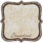 Scrapbook Customs - United States Collection - Connecticut - 12 x 12 Die Cut Paper - State Shape