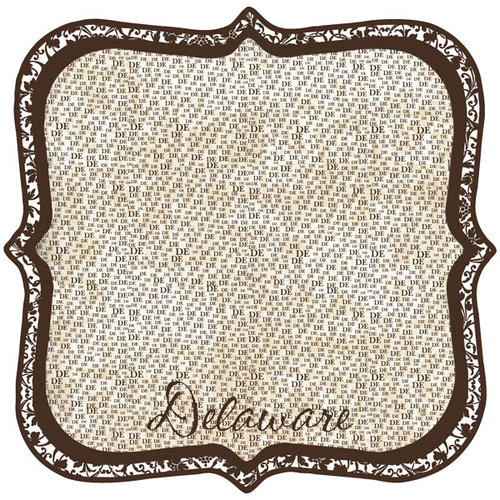 Scrapbook Customs - United States Collection - Delaware - 12 x 12 Die Cut Paper - State Shape