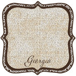 Scrapbook Customs - United States Collection - Georgia - 12 x 12 Die Cut Paper - State Shape