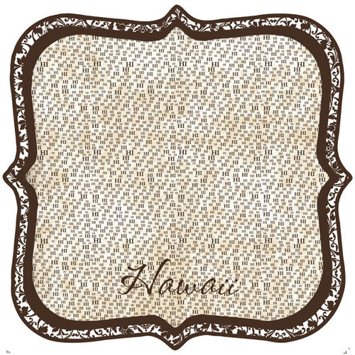 Scrapbook Customs - United States Collection - Hawaii - 12 x 12 Die Cut Paper - State Shape