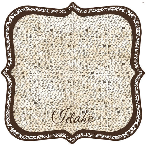 Scrapbook Customs - United States Collection - Idaho - 12 x 12 Die Cut Paper - State Shape