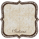 Scrapbook Customs - United States Collection - Indiana - 12 x 12 Die Cut Paper - State Shape