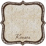 Scrapbook Customs - United States Collection - Kansas - 12 x 12 Die Cut Paper - State Shape