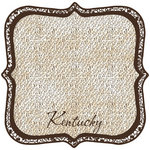 Scrapbook Customs - United States Collection - Kentucky - 12 x 12 Die Cut Paper - State Shape
