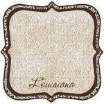 Scrapbook Customs - United States Collection - Louisiana - 12 x 12 Die Cut Paper - State Shape