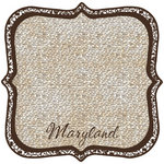 Scrapbook Customs - United States Collection - Maryland - 12 x 12 Die Cut Paper - State Shape