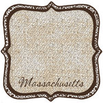 Scrapbook Customs - United States Collection - Massachusetts - 12 x 12 Die Cut Paper - State Shape