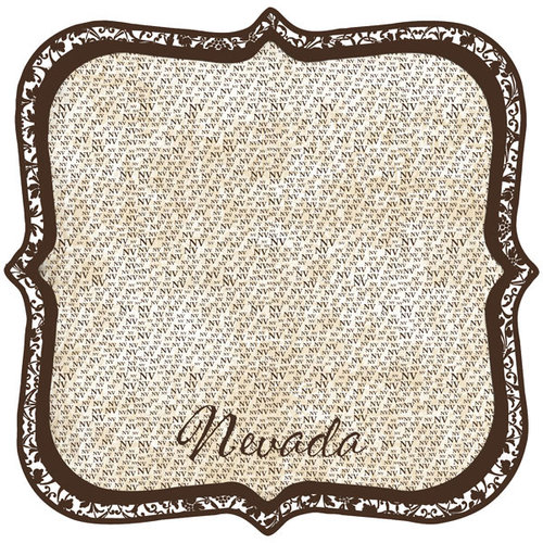 Scrapbook Customs - United States Collection - Nevada - 12 x 12 Die Cut Paper - State Shape