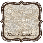 Scrapbook Customs - United States Collection - New Hampshire - 12 x 12 Die Cut Paper - State Shape