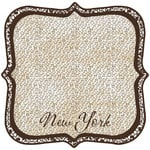 Scrapbook Customs - United States Collection - New York - 12 x 12 Die Cut Paper - State Shape