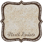 Scrapbook Customs - United States Collection - North Dakota - 12 x 12 Die Cut Paper - State Shape
