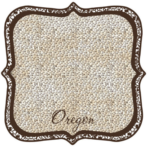 Scrapbook Customs - United States Collection - Oregon - 12 x 12 Die Cut Paper - State Shape