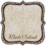 Scrapbook Customs - United States Collection - Rhode Island - 12 x 12 Die Cut Paper - State Shape