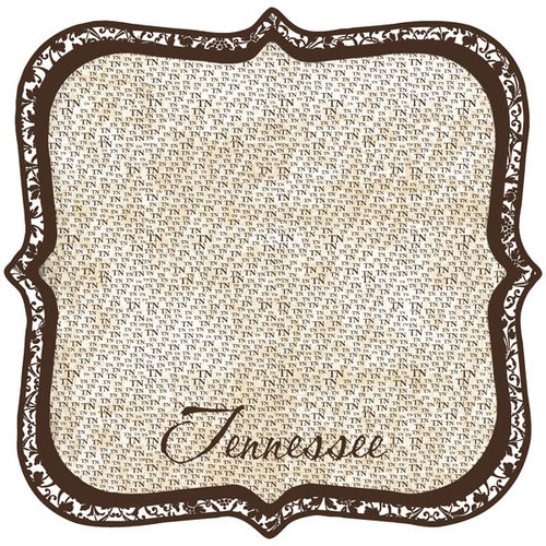 Scrapbook Customs - United States Collection - Tennessee - 12 x 12 Die Cut Paper - State Shape