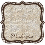 Scrapbook Customs - United States Collection - Washington - 12 x 12 Die Cut Paper - State Shape