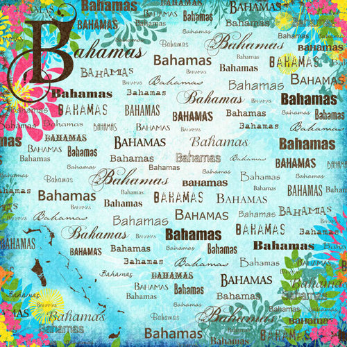 Scrapbook Customs - World Collection - Bahamas - 12 x 12 - Paradise