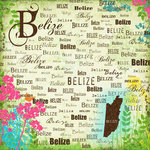 Scrapbook Customs - World Collection - Belize - 12 x 12 Paper - Paradise