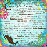 Scrapbook Customs - World Collection - Mexico - 12 x 12 Paper - Cabo San Lucus - Paradise