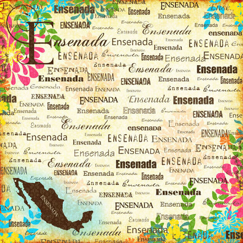 Scrapbook Customs - World Collection - Mexico - 12 x 12 Paper - Ensenada - Paradise