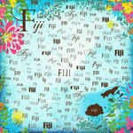 Scrapbook Customs - World Collection - Fiji - 12 x 12 Paper - Paradise