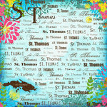 Scrapbook Customs - World Collection - Virgin Islands - 12 x 12 Paper - St. Thomas - Paradise