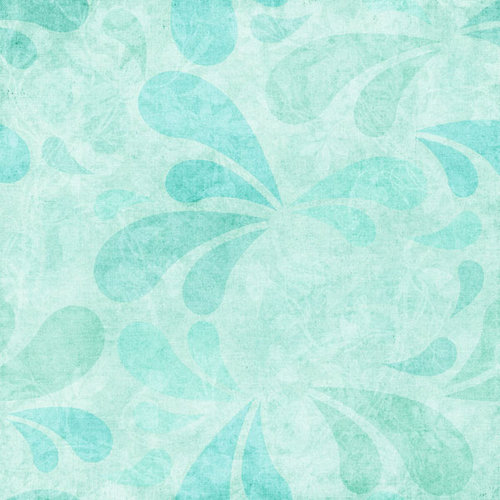 Scrapbook Customs - Travel Collection - 12 x 12 Paper - Paradise - Blue Splash
